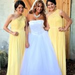 Bride and bridesmaids well