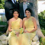 Groom bridesmaids and groomsmen garden